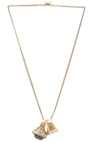 Alexander McQueen Ring Necklace in Dark Indigo & Siam
