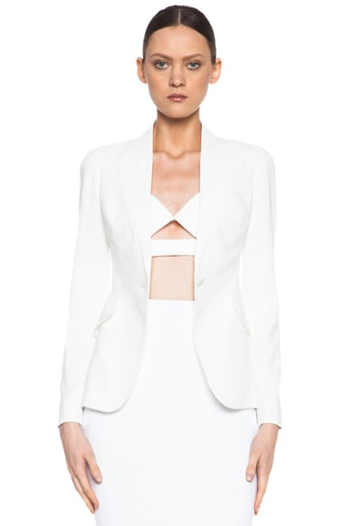 One Button Acetate-Blend Jacket