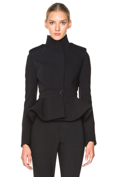 Alexander McQueen Cropped Jacket in Black