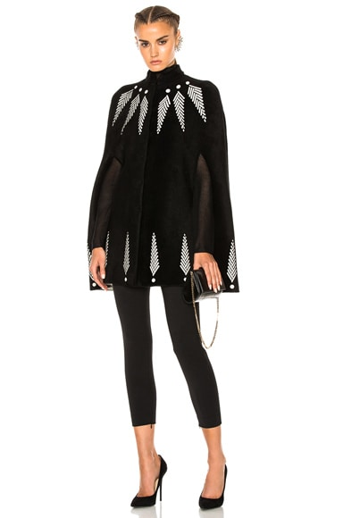 Alexander McQueen Cape in Black & Ivory