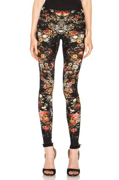 Floral Print Viscose-Blend Legging