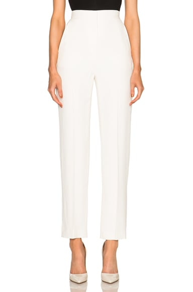 Alexander McQueen High Waist Trousers in Bone