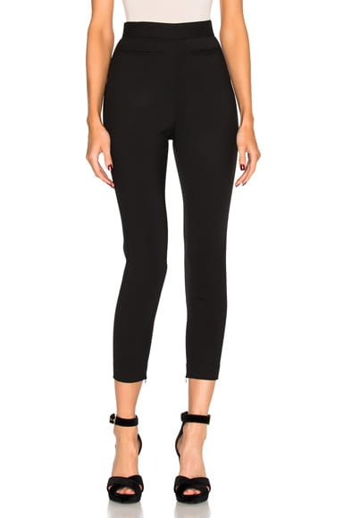 Alexander McQueen High Waisted Pants in Black