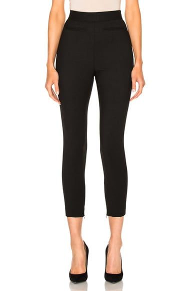 Alexander McQueen High Waisted Trousers in Black