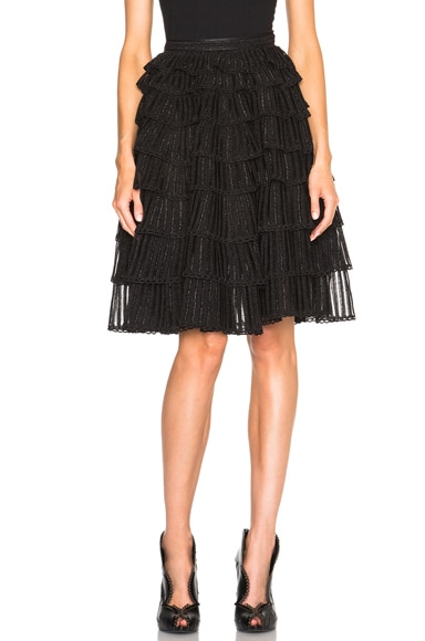 Alexander McQueen Full Skirt in Black