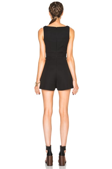 Box Pleat Romper
