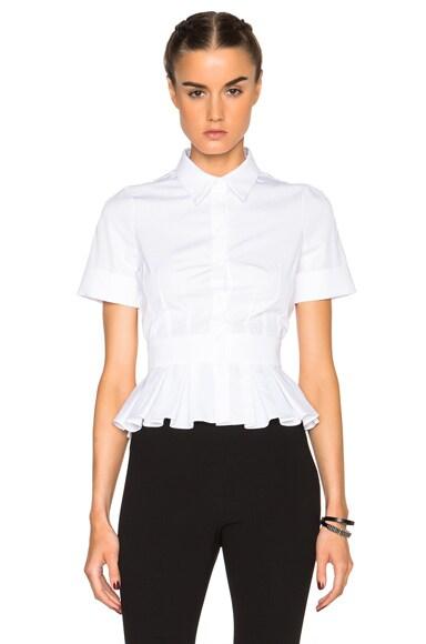 Alexander McQueen Peplum Shirt in White