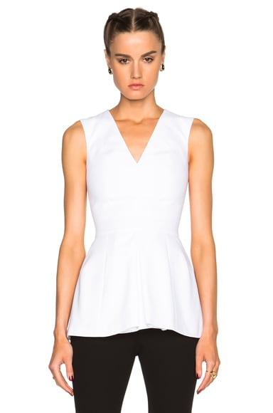 Alexander McQueen Box Pleat Top in Optic White