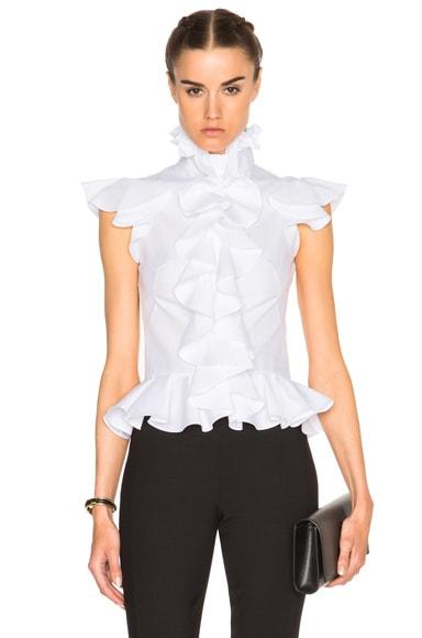 Ruffle Peplum Shirt