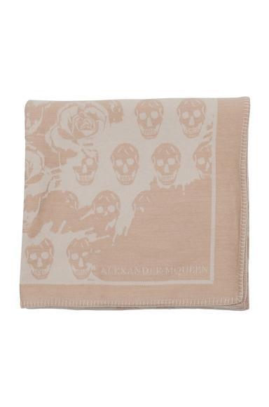 Skull & Rose Blanket Scarf