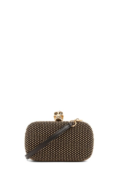 Classic Skull Box Clutch with Strap