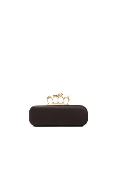 Alexander McQueen Knuckle Box Clutch in Black