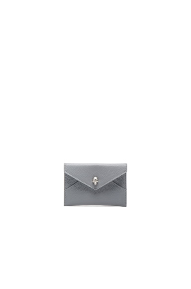 Alexander McQueen Envelope Card Holder in Grey Melange