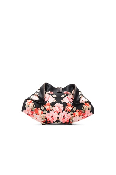 Alexander McQueen De Manta Clutch in Black & Pink