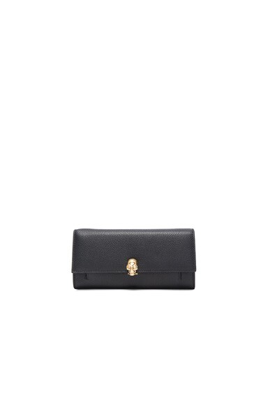 Alexander McQueen Chain Wallet in Black