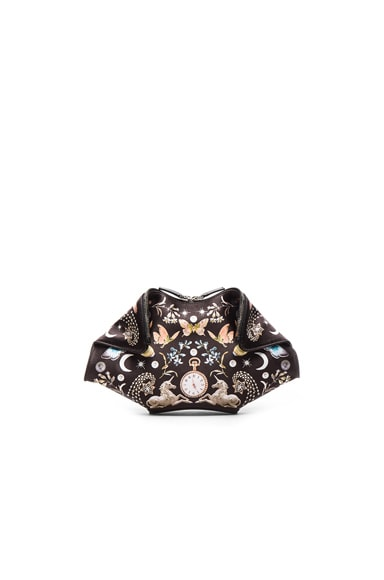 Alexander McQueen Small Demanta Clutch in Black & Multi