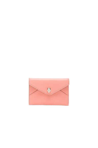 Alexander McQueen Skull Envelope Card Holder in Petale