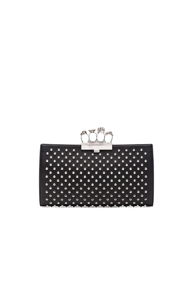 Alexander McQueen Flat Pouch Leather in Black