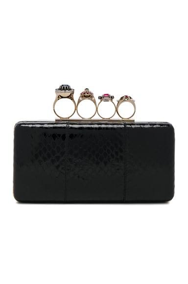 Alexander McQueen Jewelry Ring Box Clutch in Black