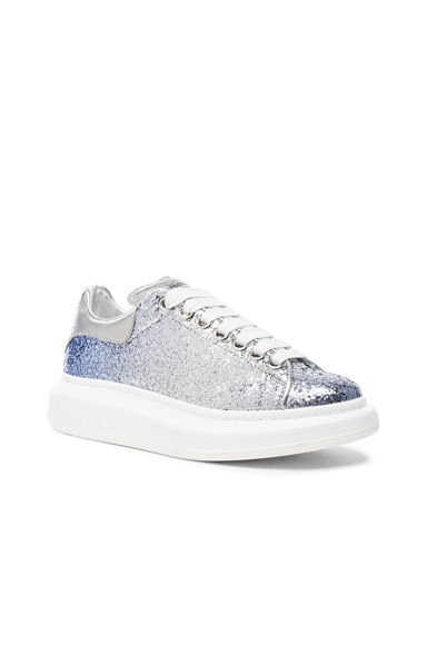Glitter Platform Lace Up Sneakers