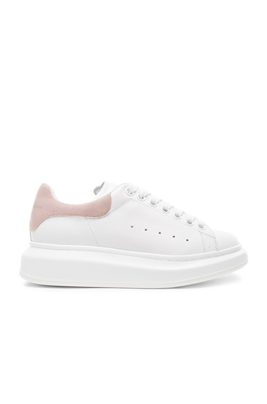 Alexander McQueen Platform Lace Up Sneakers in White & Patchouli
