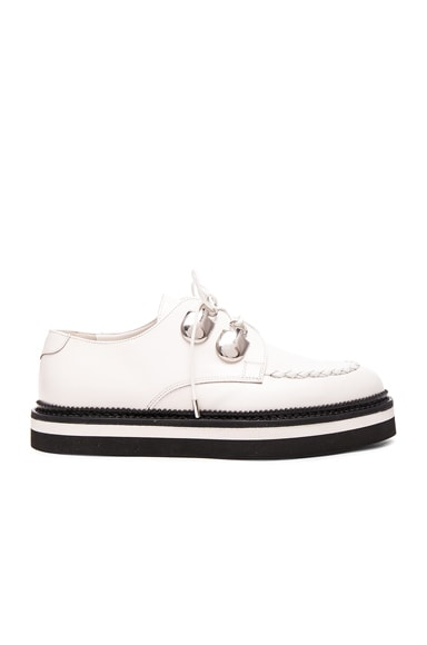 Alexander McQueen Leather Creepers in Ivory