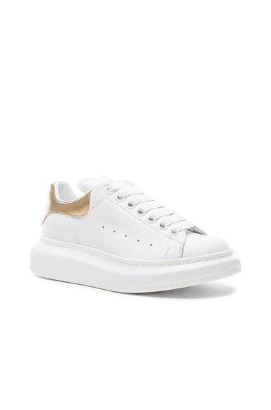 Leather Platform Lace Up Leather Sneakers