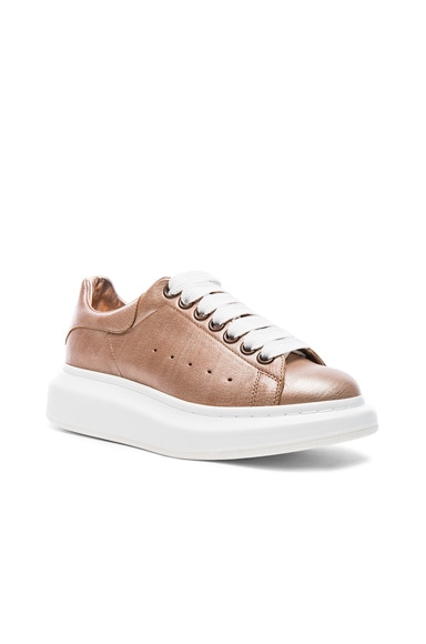 Platform Lace Up Leather Sneakers