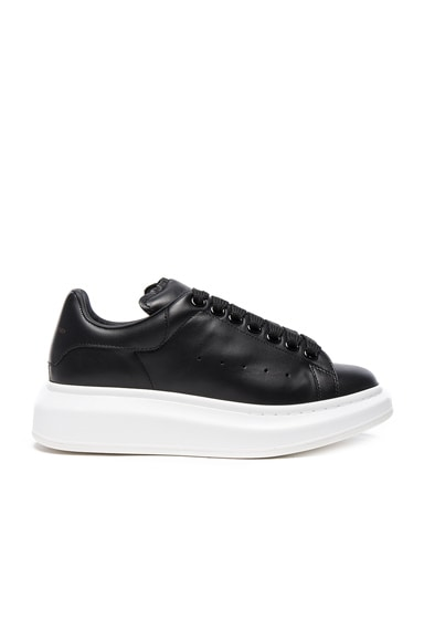 Alexander McQueen Leather Platform Sneakers in Black