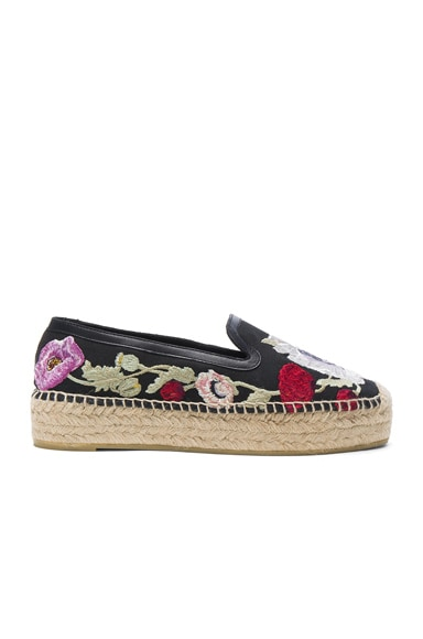 Alexander McQueen Tessu Espadrilles in Black & Multicocktail