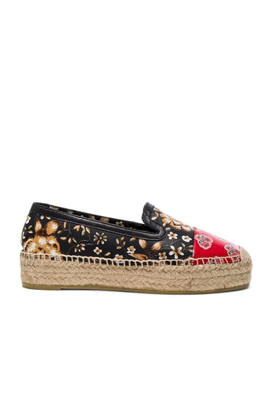 Alexander McQueen Leather Espadrilles in Multi