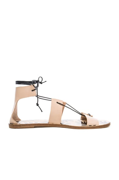 Avec Moderation Alessandra Sandals in Natural & Black