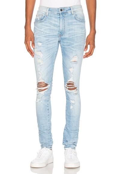 Amiri Thrasher Jeans in Rosebowl
