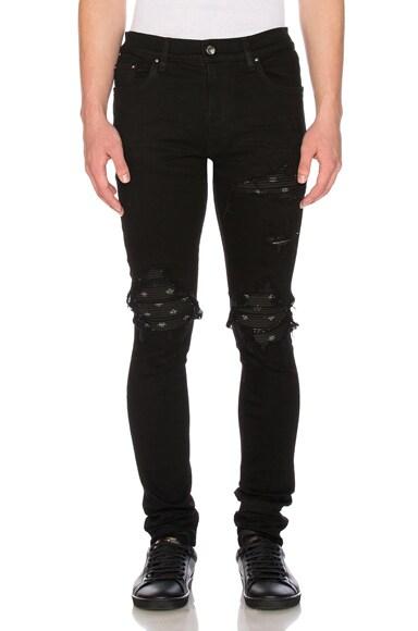 MX1 Black Bandana Jeans
