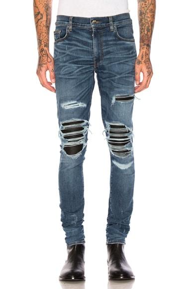 Amiri MX1 Classic in Medium Indigo & Black Leather