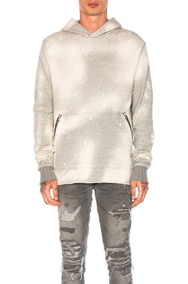 Amiri Shotgun Pullover Hoodie in Cloud Grey