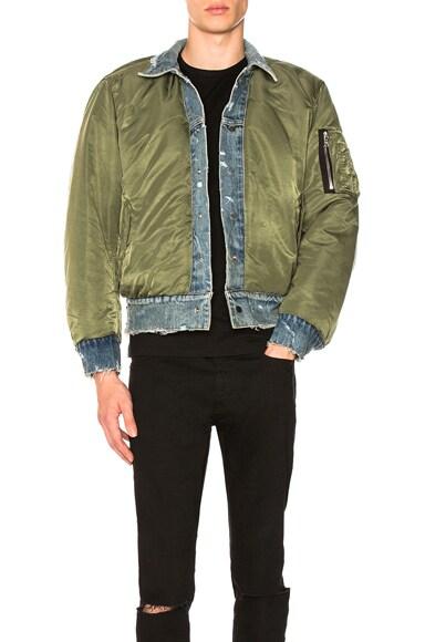 Reversible Denim Bomber Jacket