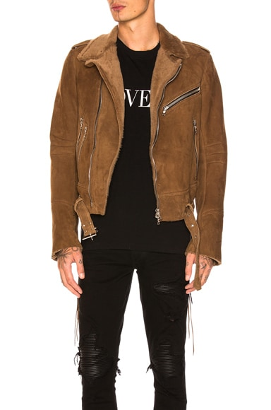 Lamb Shearling Biker Jacket