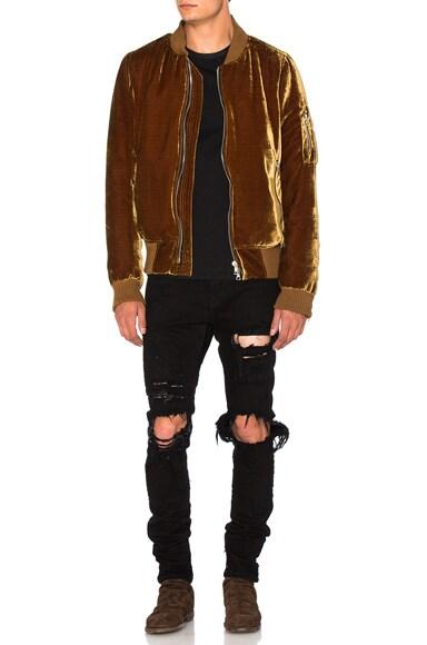 Silk Velvet Bomber Jacket