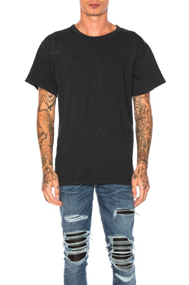 Amiri Shotgun Vintage Tee in Black