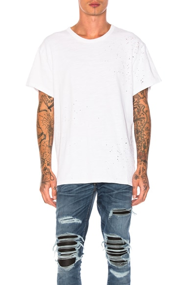 Amiri Shotgun Vintage Tee in White