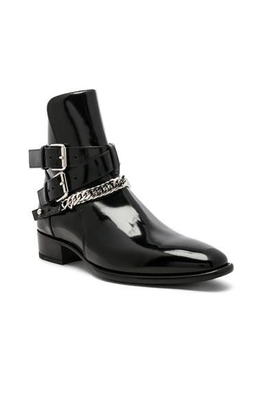 Buckle Chain Shine Boot
