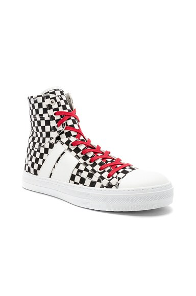 Sunset Canvas Check Sneakers