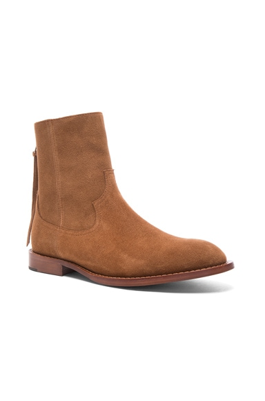 Amiri Suede Shane Boots in Brown Suede