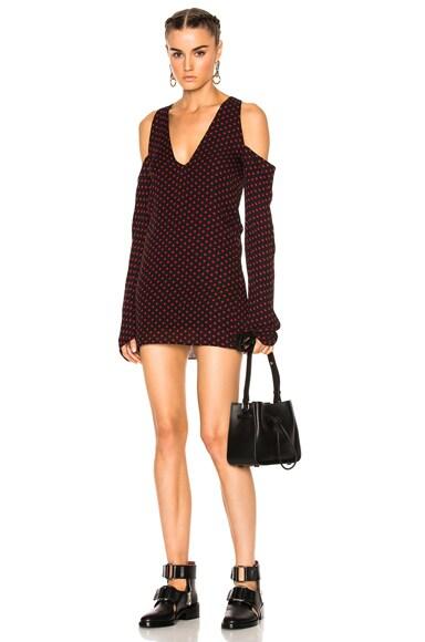 No Shoulder Long Sleeve Dress
