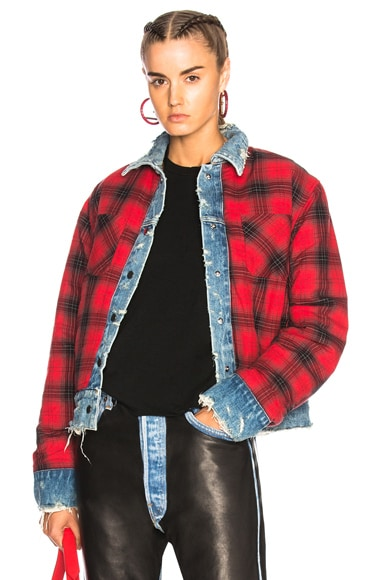 Reversible Trucker Flannel Jacket