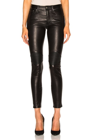 Leather Moto Pants