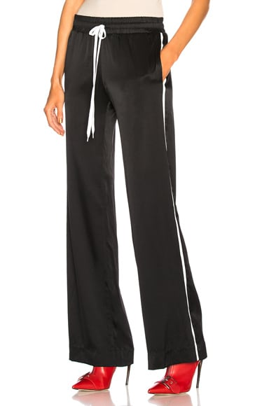 Silk Track Wide Leg Pants