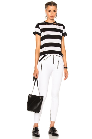 Cashmere Wide Stripe Tee