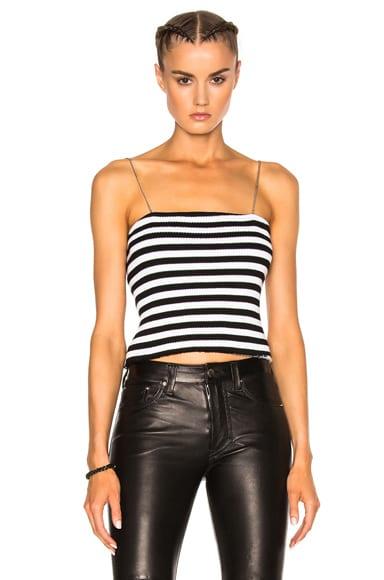 Amiri Stripe Chain Stripe Tube Top in Black & White